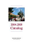 Western Oregon University 2004-2005 Course Catalog