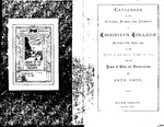 Christian College 1872-1873 Course Catalog by Christian College