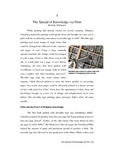 Chapter 03 - The Spread of Knowledge via Print