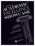 2013 Academic Excellence Proceedings Cover