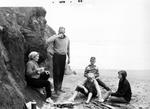 Straub Family Picnicking at Proposal Rock