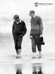 Robert F. Kennedy and Robert W. Straub Walk Along the Oregon Coast