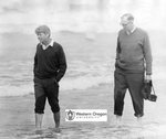 Robert F. Kennedy and Robert W. Straub Walk Along the Oregon Coast by Unknown