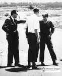 Robert F. Kennedy, Robert W. Straub, and Ken Johnson at Oregon Coast