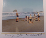 Straub Family Plays on Beach