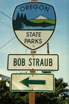 Bob Straub State Park Sign by Barbara Jones